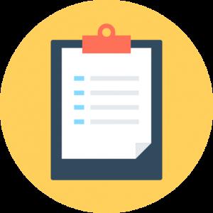 audit checklist on clipboard